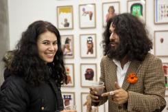 Con Albert Pinya alla Galleria AMT di Milano