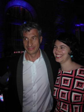 Con Maurizio Cattelan al Party di Trussardi, Biennale di Venezia, 2013