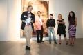 Con Vittorio Sgarbi, Andrea Pinketts, mostra Mnemosine, 2008