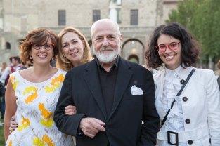 Con Michelangelo Pistoletto in occasione del Terzo Paradiso per PARMA 360 Festival della Creatività contemporanea