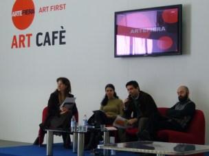 Con Ivan Quaroni e Alberto Zanchetta ad Art First, Bologna