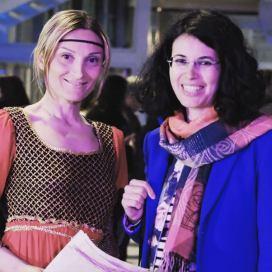 Con Giovanna Lacedra, PARMA 360 2019