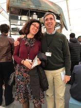 Con Jorge Orta, Frieze, Londra, 2017