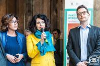 Con Camilla Mineo e Michele Guerra, Assessore alla Cultura di Parma, PARMA 360 2018